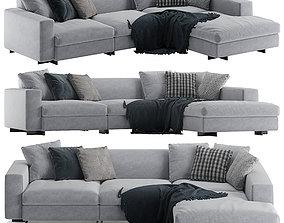 3D Molteni e C Turner L sofa