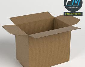 Cardboard box open 3D
