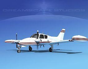 3D model Cessna 310 V11