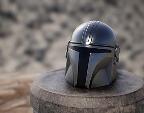 Mandalorian Helmet 3D asset VR / AR ready