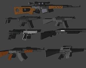 m16 3D model weapons