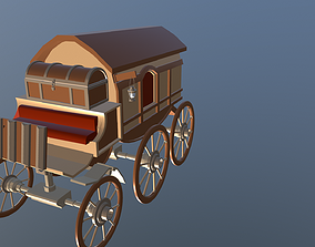 3D asset realtime Medieval Trade Wagon