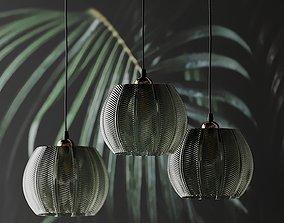 3D LOUIS GREEN GLASS PENDANT LIGHT from Beaumonde