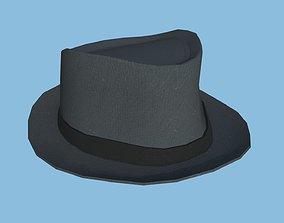 3D model Dark Gray Trilby Hat - Character Design Fashion