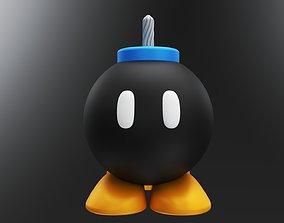 Super Mario Bomb Standing 3D model Water Tight