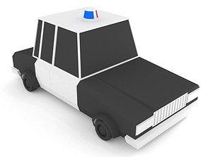 3D model Cop Car LOWPOLY
