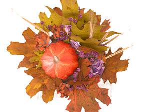 Autumn flower arrangement with a Pumpkin 3D model