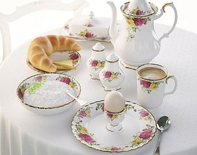 3D model White Victorian Tea Set