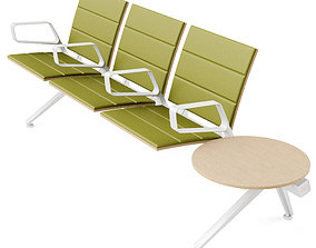 3D model Poltrona Frau Flair Airport Seating System Green