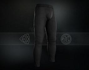 Black Skinny Medieval Pants 3D asset