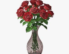 3D model bouquet roses 03