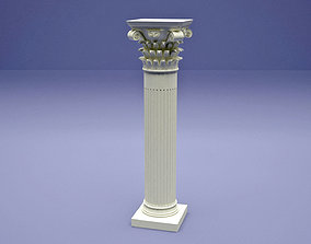 3D printable model ancient column