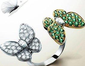 Butterfly 2 ring Stl 3D print model