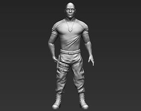Dwayne The Rock Johnson Fast and Furious 3D printing
