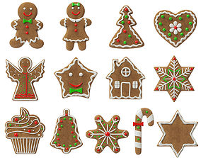 gingerbread cookies 3D