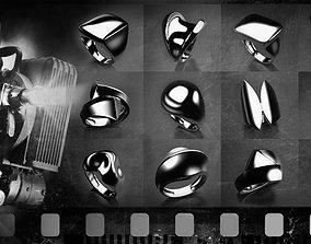 Noir stars collection 3D