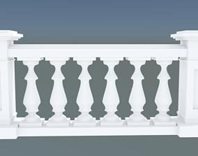 Simple concrete balustrade 3D