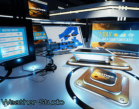 Weather TV Studio Unity 3D model
