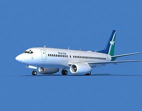 3D model Boeing 737 MAX 7 SilkAir