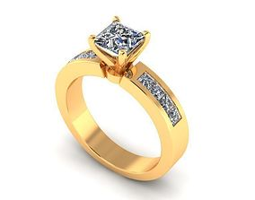 3D printable model Solitaire Ring R03