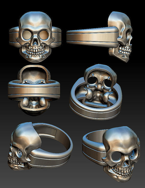A simple ring with a skull. Hollow.