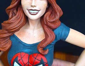 Mary Jane Watson Statue Model Spider-Man Sculpture 3D