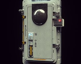 Scifi Moonbase Door 3D Model