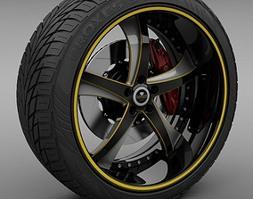 3D Savini Forged SV-29S Wheel and Tire