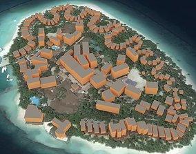 3D model Maldives Island
