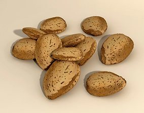 3D Almonds in shell