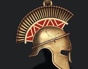 3D printable model Spartan helmet pendant