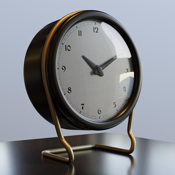 Clock on the table