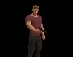 3D asset Bomber Game Character