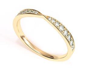 Tiffany Harmony Bead-set Diamond Ring 3D printable model