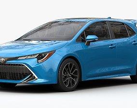realistic 3D Toyota Corolla Hatchback
