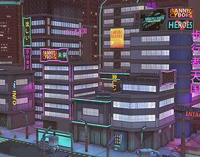 Future mobile city 3D model