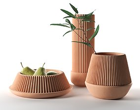 Pleated Planters 3D pear