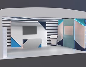 architecture 3D model Stand 02
