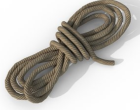 3D asset Rope - PBR Game Ready