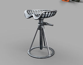 3D model Industrial metal chair