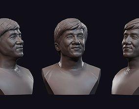 3D print model Jackie Chan bust 1