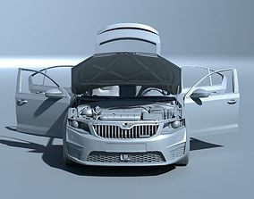 Skoda Octavia RS Extreme detailed 3D model