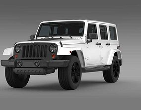 Jeep Wrangler Unlimited Altitude 2014 3D