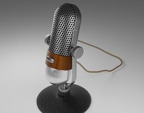 Vintage Microphone 3D model object