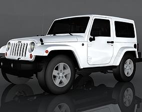 usa 3D model VR / AR ready Jeep Wrangler Rubicon
