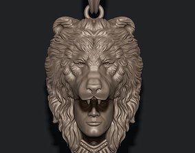 Man bear pendant 3D print model