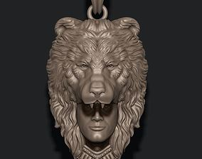 3D printable model Man bear pendant