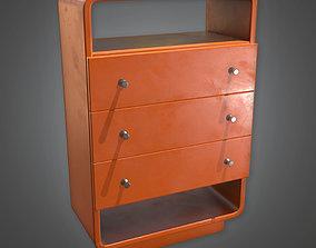 MCN - Retro Dresser Midcentury 17- PBR Game 3D asset