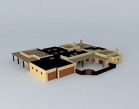 Flat Roofed House 3D