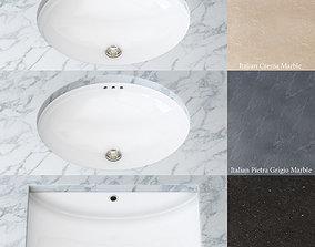 Set for bathroom sinks 3D model